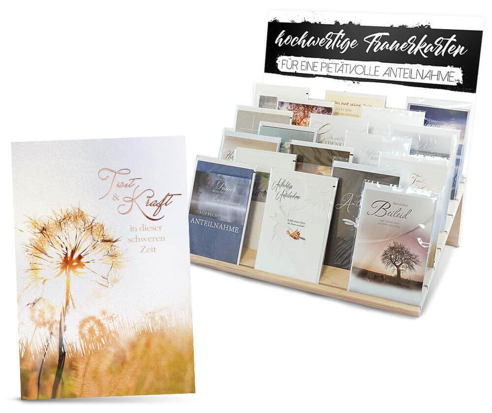 Grusskarten: Glückwunschkarten, Trauerkarten, Hochzeitskarten für Wiederverkäufer