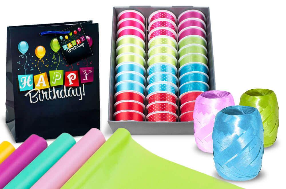 Papeterie: Geschenktüten, Geschenktaschen, Flaschentaschen, Geschenkpapier, Geschenkband für Wiederverkäufer